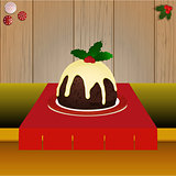 Christmas pudding on the table