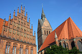 Market Church and Old Town Hall in Hannover, Germany