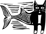 Woodcut Catfish