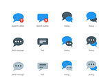 Speech bubble icons on white background