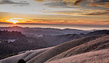 Sunset at Russian Ridge Open Space Preserve, San Mateo County