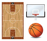 Basketball Design Elements Illustration