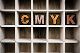 CMYK Concept Wooden Letterpress Type in Draw