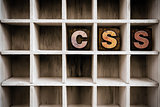 CSS Concept Wooden Letterpress Type in Draw