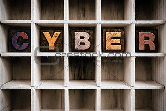 Cyber Concept Wooden Letterpress Type in Draw