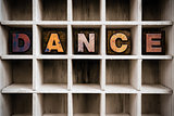 Dance Concept Wooden Letterpress Type in Draw