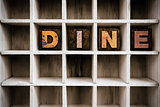 Dine Concept Wooden Letterpress Type in Draw