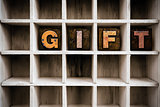 Gift Concept Wooden Letterpress Type in Draw