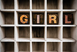 Girl Concept Wooden Letterpress Type in Draw