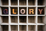 Glory Concept Wooden Letterpress Type in Draw