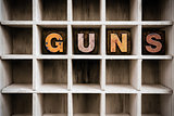 Guns Concept Wooden Letterpress Type in Draw