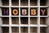 Hobby Concept Wooden Letterpress Type in Draw