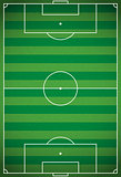 Vertical Realistic Football - Soccer Field Illustration