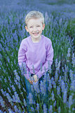 boy at lavender field
