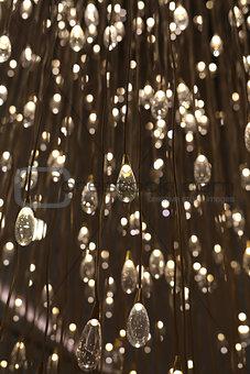 chandelier drops of water