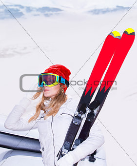 Beautiful ski instructor