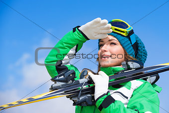 Skier instructor portrait