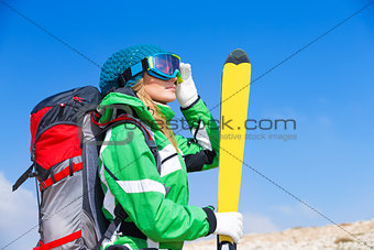 Beautiful ski instructor