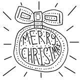 Merry Christmas background with christmas ball.