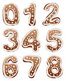 Set Baking gingerbread number