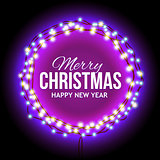 Congratulation to Christmas with lights