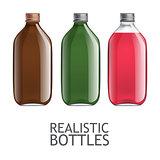 Template of glass bottles