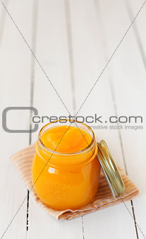 Canned Pumpkin Puree, copy space for your text