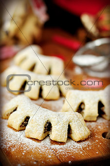 Cuddureddi, Sicilian Christmas Cookies, vintage effect, copy spa