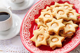 Ginger Shortbread Stars with Marshmallow Filling