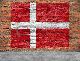 Flag of Denmark and foreground