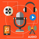Audio production and podcast concept