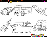 transport vehicles coloring page