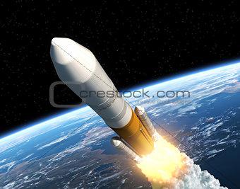 Cargo Launch Rocket Launching