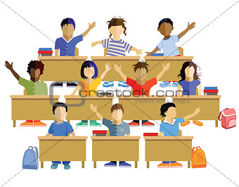 Classroom with schoolchildren