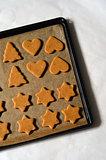 Baking ingredients for Christmas cookies