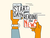 Start your day by reading the news