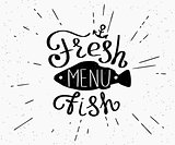 Freash fish menu