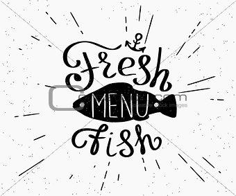 Freash fish menu
