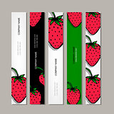 Banners template, strawberry design