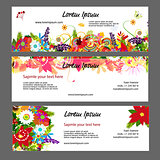 Banners template, floral design