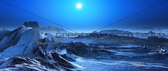 3D surreal landscape