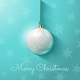 Christmas background with bauble