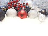 Snowy Christmas decorations