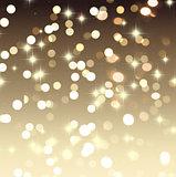 GOld bokeh lights Christmas background