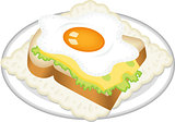 Sandwich from fried egg
