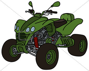 Green all terrain vehicle