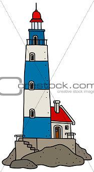 Old stone lighthouse