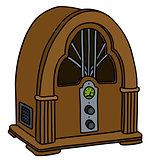 Vintage vacuum tube radio