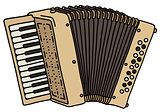 classic beige accordion