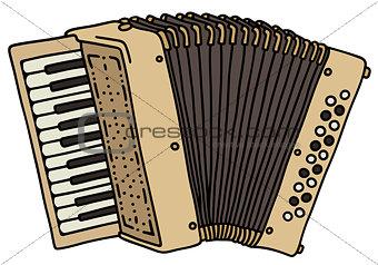 classic beige accordion
